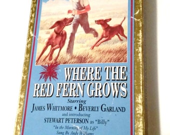 Where The Red Fern Grows VHS 1991