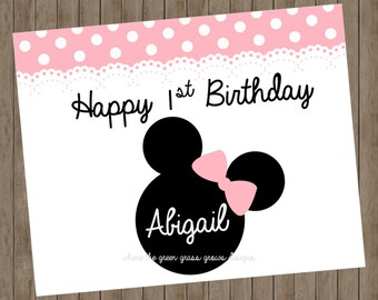 Minnie Mouse 8x10 Sign