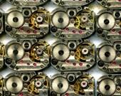 """1/2"""" x 3/4"""", 27 IDENTICAL striped little watch movements, best price, jewelry art, steampunk, vintage, watch parts, JunqueTreasures, WM2"""