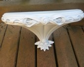 Vintage Burwood Hard Plastic Shelf Upcycled White Shabby Chic