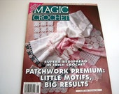 MAGIC CROCHET Pattern book - June 1996 - # 102 - Irish Crochet -  Patchwork - afghans - Bedspreads - and More
