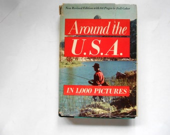 Around the U.S.A in 1000 Pictures, a Vintage Book
