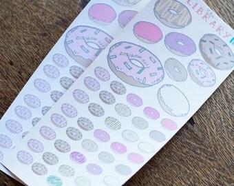 48 Doughnut Planner stickers, Perfect for Erin Condren, Kikki K, Plum Paper, Filofax, Happy Planner, Inkwell Press Donut