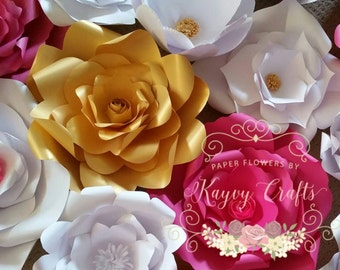 Extra Large Paper Flower wall Backdrop 3x5 feet for wedding, birthdays, baby shower and party decorations Custom colors