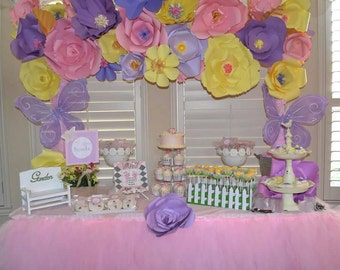 Paper Flower Backdrop Wall Decoration for weddings, birthdays, baby shower and parties Spring arch. Custom made in your colors