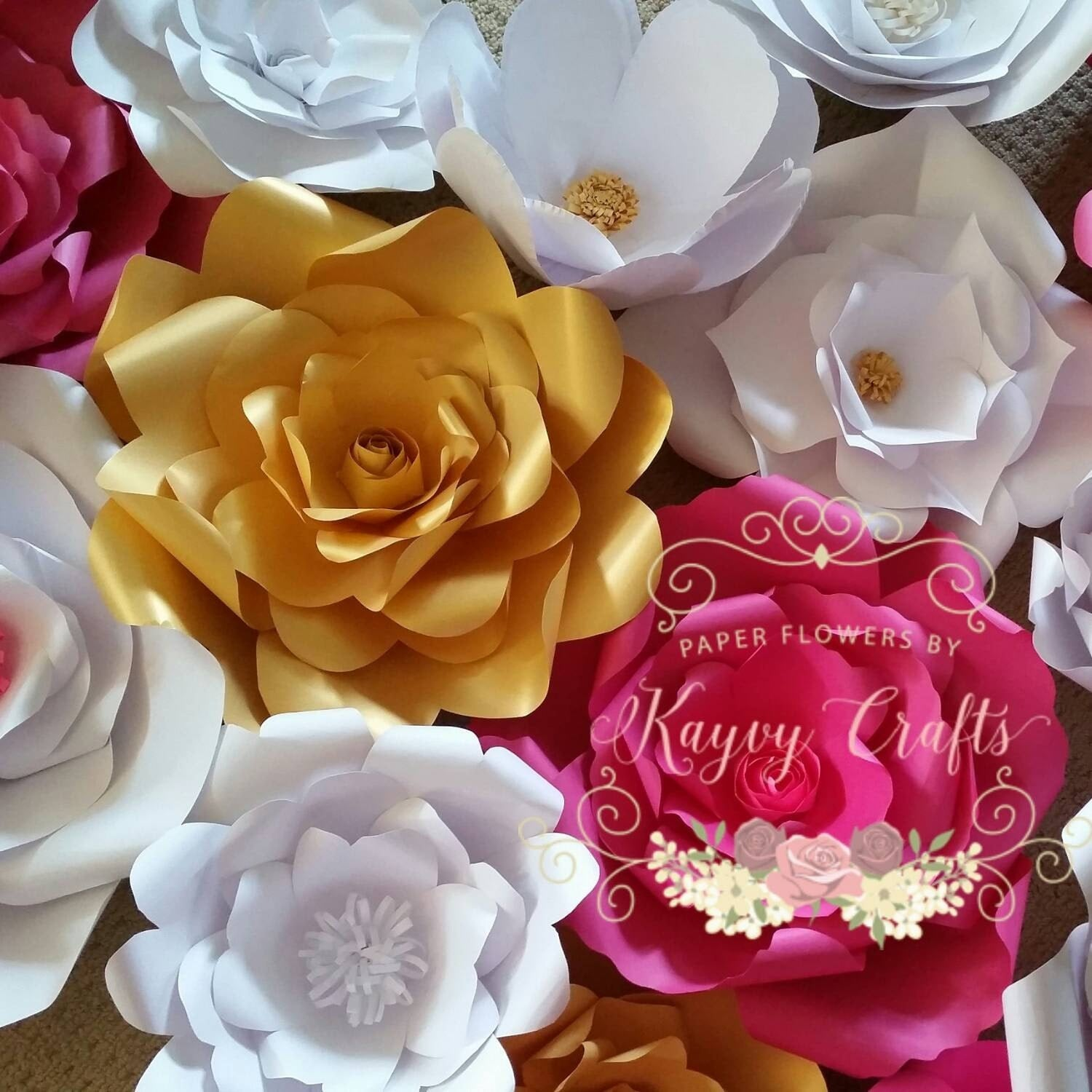 Extra large paper flower wall backdrop 3x5 feet for wedding zoom dhlflorist Choice Image