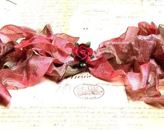 SHABBY ROSE Crinkled Cottage Ribbon