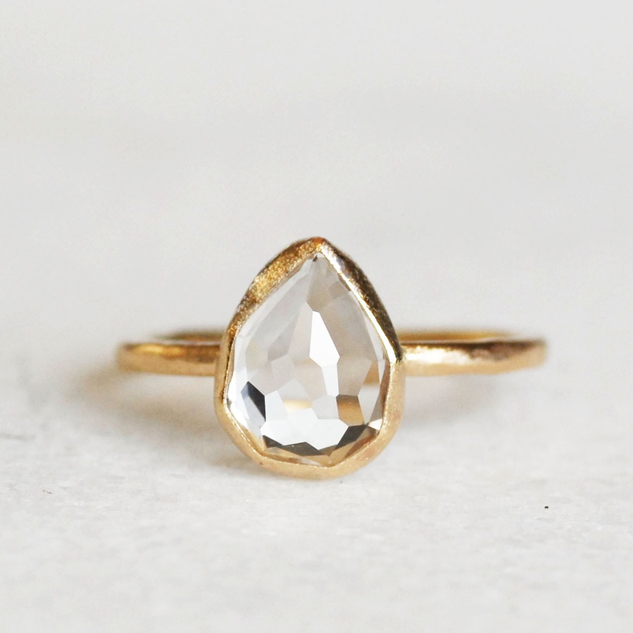 topaz wedding ring gold and white topaz ring by lilianginebra