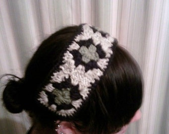 Granny Square Headband, crochet granny square headband, more colors available, hair accessories, crochet, granny square, headband