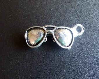 Sunglass Charms - 3D - Antique Silver - Aviator Glasses - Summer, Beach