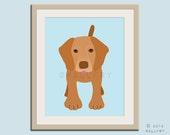 Vizsla print puppy dog nursery decor. Dog nursery print. Art for children, kids decor. Custom dog art kids. Art print by WallFry