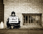 Banksy Poster Print -  Keep Your Coins I Want Change - Multiple Paper Sizes