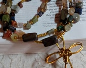 R017 Handcrafted Gemstone Rosary Traditional Prayer Beads