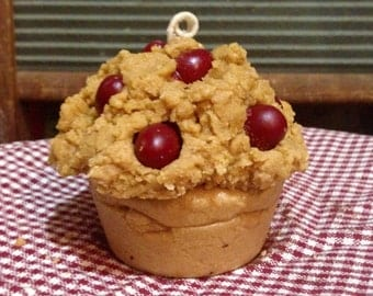 Cranberry Muffin Candle - Handmade