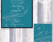 Swirly Wedding Invitation Suite