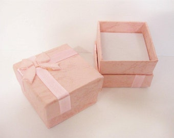 Jewellery Ring Gift Box x 2 pink