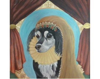 Husky Dog Queen Art Portrait- Royal Print