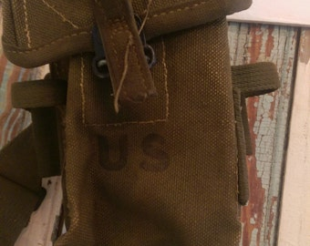 Vintage Military Ammunition Pouch/Ammo Pouch/U.S. Military/Army