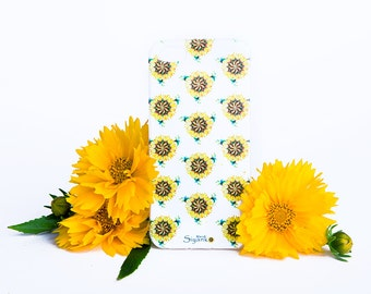 Sunflowers Pattern iPhone Floral Case - iPhone 6 / 6 Plus Case - iPhone 5 / 5S Case - iPhone 4 Case - HTC - Samsung - Lenovo - Sony - Nokia