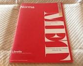 Vintage NORMA Opera LIBRETTO MET Metropolitan Opera G. Schirmer 1969