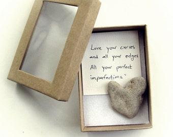 Unique Love Card - Unique Romantic Card - Unique Engagement Card - Unique Card for Him - Unique Card For her   a heart shaped rocks in a box
