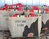 Cabo San Lucas Arch - Destination Custom Wedding Tote Bags - Handmade Wedding Favors or Bridesmaids Gifts