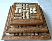 Wine Cork Board Trivets Set of 3,  Wine Collector's Gift, Kitchen and Bar Decor