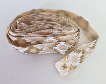Fold over elastic - aztec