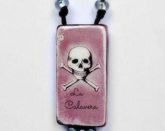 La Calavera - Necklace - Hand Knotted Long Necklace & Pendant