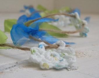 Summer Crochet Flower Garland