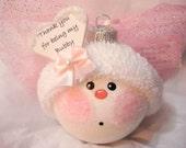 SALE Bubby Hanukkah Angel Ornament (Originally 16.95) Sold as Is