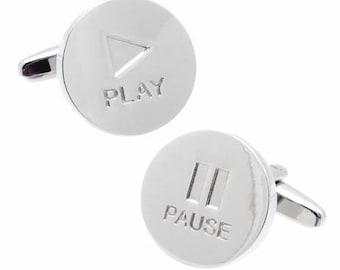 Pause & Play Cufflinks