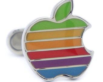 Apple Rainbow Cufflinks