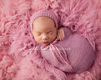 Leighton Heritage 4'x6' Genuine Flokati Newborn Photography Wool Posing Prop Pink Organic Large Layering Bean Bag Floor Cover Nursery Rug