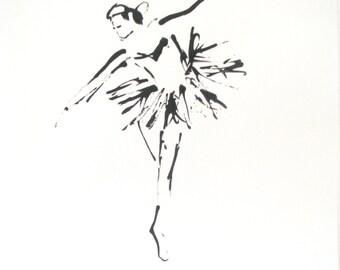 Original ink drawing - Swan Lake - art - europeanstreetteam