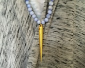Periwinkle Necklace with Gold Spike