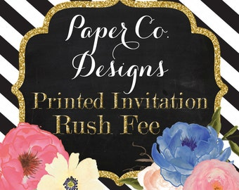 24 Hour Proof Rush Service - Add-on to PRINTED invitation orders