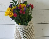 Farmers Market Bag - Reusable Cotton Grocery Tote - Natural
