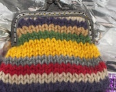 Dr Who Inspired Hand Knitted Coin Purse