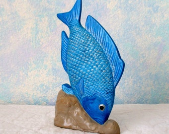 Ceramic Fish, Blue