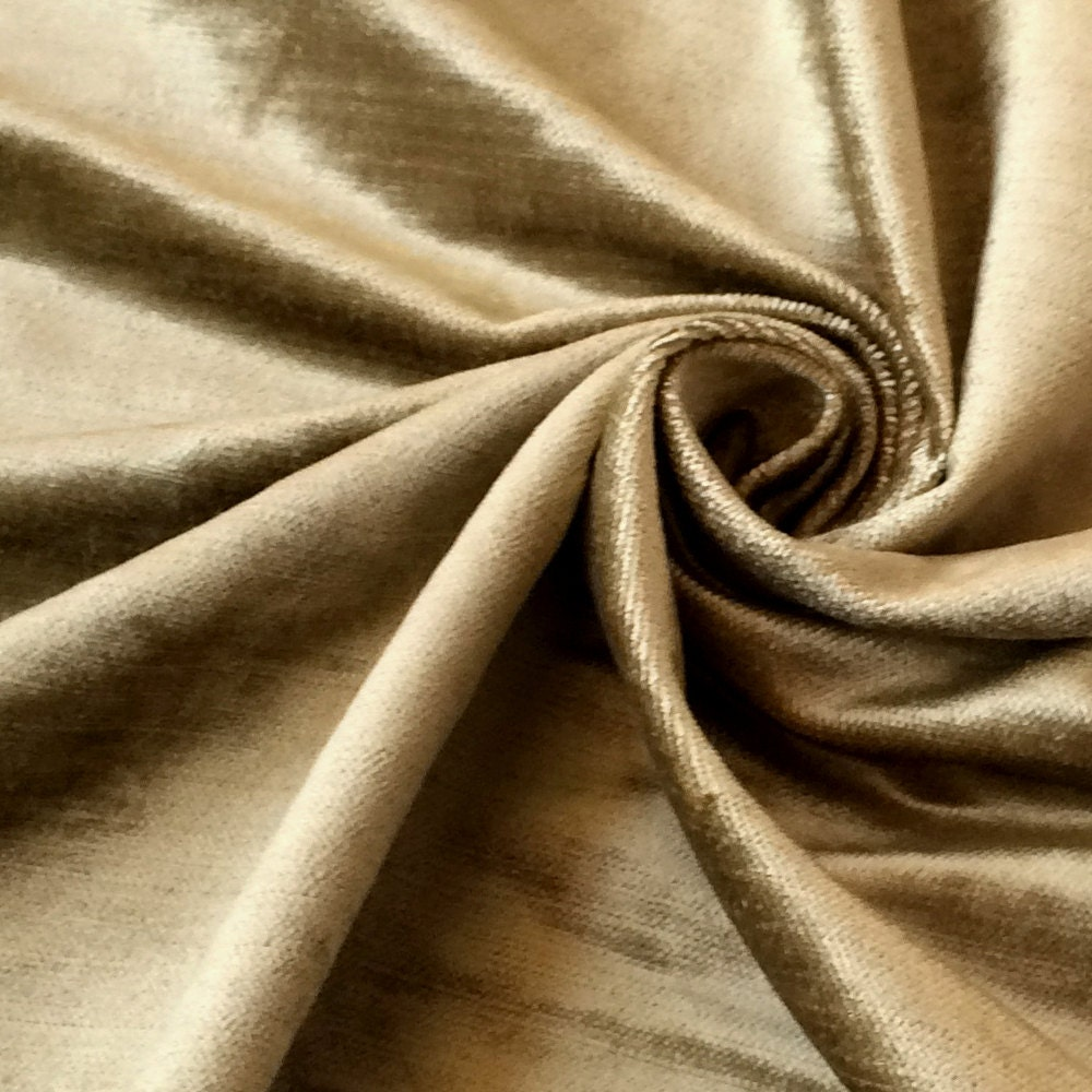 Sage Green Cotton Viscose Velvet Fabric By The Yard Upholstery