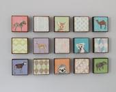Safari Nursery Art- Girl Nursery Kid room decor- Choose (15) FIFTEEN of our Custom Designs 5x5 Nursery Decor Nursery Art