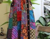 PATCHWORK Boho Gypsy A Shape Long Skirt - PKW1504-06