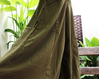 Wide Leg Pants - SL02 OLIVE Green