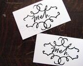 Meh - Original Linocut Print Art Calling Cards Set of 5