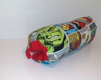 Infant Car Seat ARM PAD, Handle Cover Wrap, Reversible -  Avengers Comic Strip