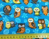 "So cut owls - 1 yard - cotton linen - 3 colors to choose - owl fabric,Check out with code ""5YEAR"" to save 20% off"
