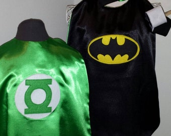 Reversible Super Hero Cape Set (Batman, Green Lantern, Superman, Spider Man, Mr. Incredible, Captain America)
