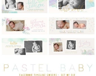 Pastel Baby Facebook Timeline Covers  (INSTANT DOWNLOAD)