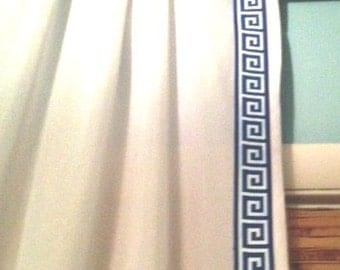 Greek  Key Grosgrain Curtain-SALE - color choices